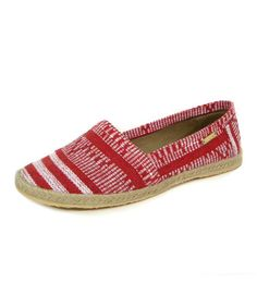 Take a look at this Red Sand Cabo Espadrille Flat by Kaanas on #zulily today!
