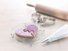 Kjærlighetskake Kakeform - utgjør et hjertepuslespill