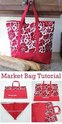 Small Sewing Projects, Sewing Hacks, Sewing Tutorials, Diy Bags Sewing, Free Sewing, Tote Bag Tutorials, Sewing Machine Projects, Christmas Sewing Projects, Sewing Ideas