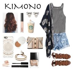 """Kimono"" by pastelsummer ❤ liked on Polyvore featuring Abercrombie & Fitch, BLANK, Chan Luu, Butter London, Casetify, Surratt, NARS Cosmetics, Anita Ko, lilah b. and kimonos"