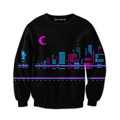 Night City Sweatshirt  Keep warm and stay cool