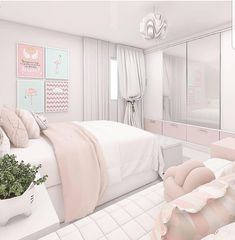 Teen girl bedrooms, Visit these impressive makeover concept number 9893567086 for that adorable room. Pink Bedroom Decor, Bedroom Decor For Teen Girls, Cute Bedroom Ideas, Room Ideas Bedroom, Small Room Bedroom, Girl Bedrooms, Teen Bedroom Designs, Home Room Design, Aesthetic Room Decor