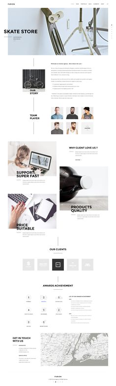 WordPress Minimal Theme Website Templates from ThemeForest - Wordpress Minimal Theme - Ideas of Wordpress Minimal Theme - Furion Creative PSD Template PSD Templates Minimal Web Design, Ui Design, Layout Design, Design Blog, Web Layout, Interface Design, User Interface, Modern Web Design, Homepage Design