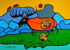 Hazel Home Art and Antiques Wausau, Wisconsin: Norval Morriseau (1932-2007) and The Woodlands School of Art