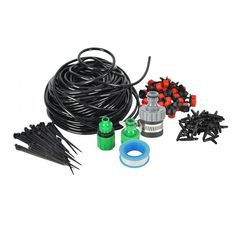M Diy Automatic Micro Drip Irrigation System Water Sprinker Watering Spray Distribution Tubing Dripper Kit Garden