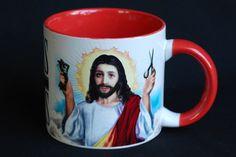 Jesus shaves mug. Just add water. #kitsch #religiouskitsch