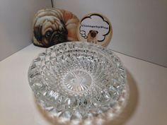Vintage Large Round Cut Crystal Ashtray ****NO RESERVE****