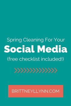 It's that time again...time for spring cleaning! Your social media platforms also need some cleanin' up. Check out this blog post (with a free checklist, yahoo!) for spring cleaning for your social media accounts.