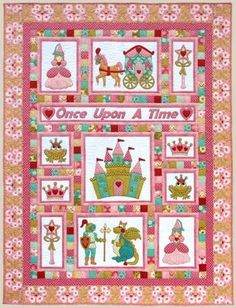 """Once Upon A Time"" quilt pattern by Kids Quilts Not vintage but still very cute in a vintage style."