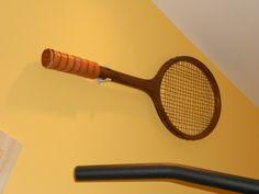 Racchetta da tennis ritoccata vintage