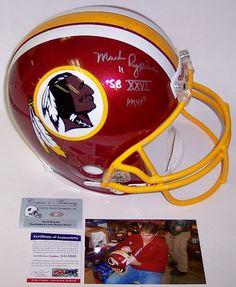 Mark Rypien Autographed Hand Signed Washington Redskins Full Size Helmet - PSA/DNA