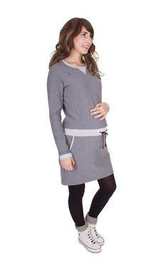 Viva la Mama | Nursing dress / maternity dress / UNA // greying / long-sleeved. A comfortable dress for pregnancy, maternity, breastfeeding & everyday use.