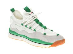 Pantofi sport GRYXX albi, 207232, din material textil si piele naturala
