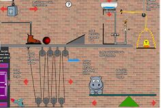 A list of websites where kids can create their own Rube Goldberg machines via Science Gal: Rube Goldberg Design Brief