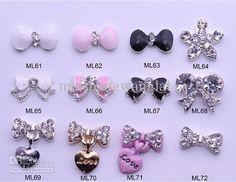 nail jewelry | ... 350 optional Nail Tips Dangle Jewelry Nail Art Decoration 3d Nail Bows Diy Fashion, Fashion Beauty, Nail Jewelry, Jewellery, Nail Tips, Nail Ideas, Girly Things, Girly Stuff, Nail Charms