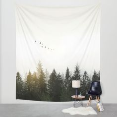 Forest Wall Tapestry by Nicklas Gustafsson
