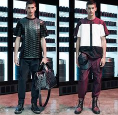 Alexander Wang 2015 Spring Summer Mens Lookbook Collection Presentation - Mode à Paris Fashion Week Mode Masculine France - Abstract Tie-Dye Paint Splatters Outerwear Outdoors Parka Coat Anorak Shorts Hoodie Backpack Rucksack Grosgrain Straps Boots Cargo Pockets Pants Trousers Drawstring Bomber Field Jacket Utility Pockets Suit Embossed Engraved Waffle Tire Threads Duffel Bag