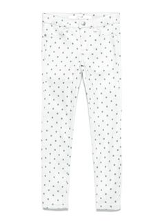 JOE'S Glitter Jegging in Polka Dot combines the sleek and slim fit of a skinny jean with extra stretch for added comfort and freedom of movement. Featuring faux front pockets and real back pockets, this girls' printed pant is also woven with shimmery, glittery threads for a whimsical, springtime look.