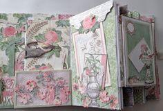 annes papercreations: G45 Botanical Tea Envelope Mini Album with Flaps - Challenge with Linda at livartnow
