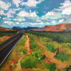 Inspired by @drewdangerdandoyle and his road trip adventures  #painting #landscape #valley  #artbysadie #art #artist #roadtrip #colorado #nature #explore #instadaily #mountains #desert