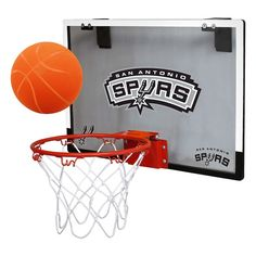 San Antonio Spurs Rawlings Polycarbonate Over-The-Door Mini Hoop