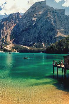 Braies Lake . Italy