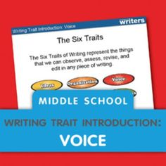 Free Mini-Lessons to Introduce the Six Traits of Writing Writing Curriculum, Writing Classes, Writing Lessons, Writing Workshop, Teaching Writing, Teaching Ideas, Writing Notebook, Writing Ideas, Middle School Writing Prompts