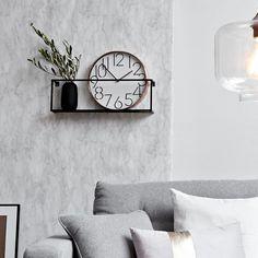 Metal wall shelf, W: 50 x H: 16 x D: black, black - Home Page Black Shelves, Wall Shelves, Shelving, Living Room Ideas 2019, Bedroom Decor, Wall Decor, Room Closet, Cool Walls, Metal Walls
