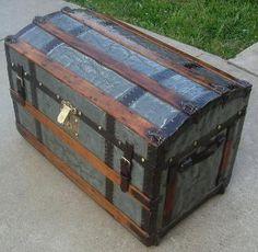 Antique Zinc Trunk