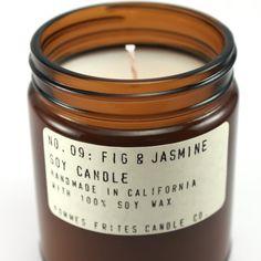 No. 09: FIG & JASMINE - 7.2 oz soy wax candle - Mediterranean / fruity notes…