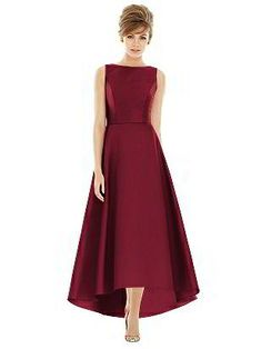 Shop Alfred Sung Bridesmaid Dress - in Sateen Twill at Weddington Way. Find the perfect made-to-order bridesmaid dresses for your bridal party in your favorite color, style and fabric at Weddington Way. Alfred Sung Bridesmaid Dresses, High Low Bridesmaid Dresses, Bridesmaid Gowns, Bridal Party Dresses, Wedding Dresses, High Low Cocktail Dress, Lady Like, Evening Dresses, Prom Dresses