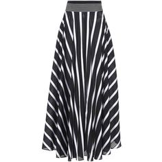 Diane von Furstenberg Striped Maxi Skirt (€470) ❤ liked on Polyvore featuring skirts, black, midi & long, long skirts, maxi skirts, long striped skirt, ankle length skirt and diane von furstenberg skirt