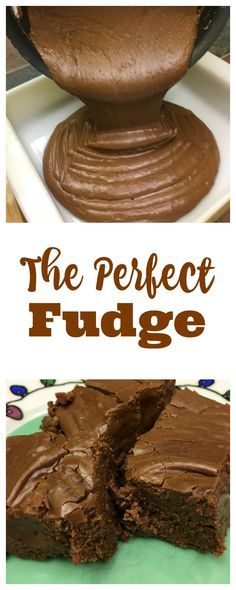 The perfect fudge makes a delicious dessert with plenty of chocolate. The fudge melts in your mouth and is so quick and easy to make.