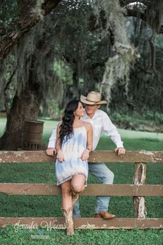 Austin Hill Country Engagement Photo by Jennifer Weems Photography, rustic engagement, country, boots, cowboy, cowboy hat, banner, save the date, barn, hay, cows, Austin Wedding Photographer, ranch