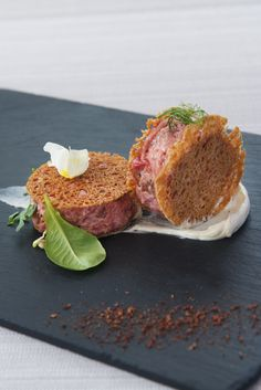 These delicate, crispy sandwiches of veal tartare from Marianna Vitale make an…