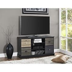 Ameriwood Home Blackburn Storage TV Console | Overstock.com Shopping - The Best Deals on Entertainment Centers