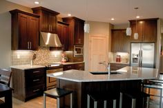 The Dark Cabinets In This Kitchen Created By Swan Creek Would Really Bring  Out The Dark