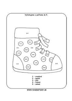 Topánka. Omaľovánka.