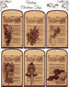 Free-printable Vintage Christmas Tags