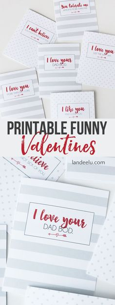 Printable Funny Valentine Cards for Funny Couples | landeelu.com