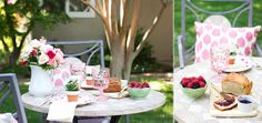 garden tea party with DIY mini flower pot placecards