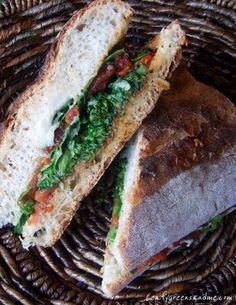 Tuscan White Bean & Roasted Tomato sandwich #vegan