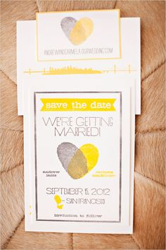 Lovely idea for wedding save the dates