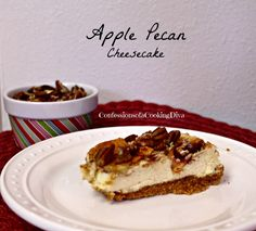 apple pecan cheesecake. Ingredients: graham crackers, pecans, sugar ...