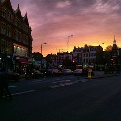 Sunset in Camberwell Flashbulb Memory, Street View, Memories, Celestial, Sunset, Black And White, Outdoor, Memoirs, Outdoors