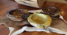 Wooden bowls in yacht varnish.. Home made by Love IT!