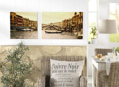 Italian flair fürs Wohnzimmer: http://www.cewe-fotobuch.at/produkte/wanddekoration/ #diy #wanddeko #italy