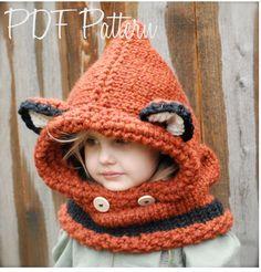 Knitting PATTERNThe Failynn Fox Cowl Toddler by Thevelvetacorn, $5.50