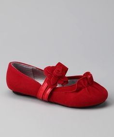 Take a look at this Red Juicy Flower Flat by Marilyn Moda on #zulily today!