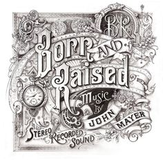 Born and Raised Album Cover for John Mayer by Davi Smith